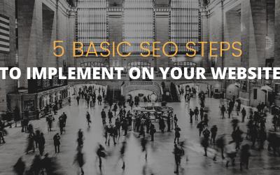 5 Basic SEO steps to start your website