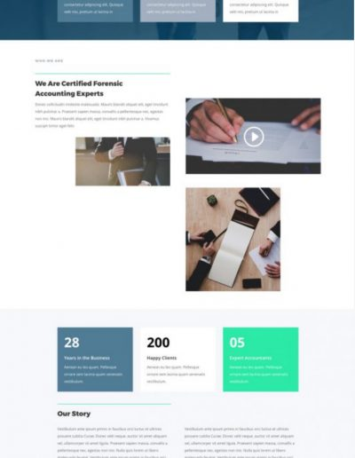 Accountant About Web Template