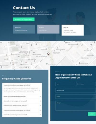 Accountant Contact Web Template