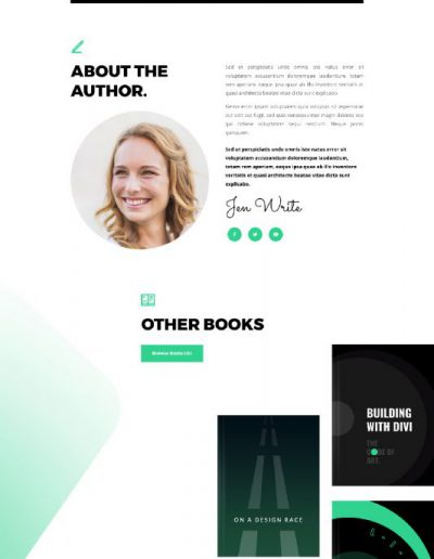 ebook home page web template