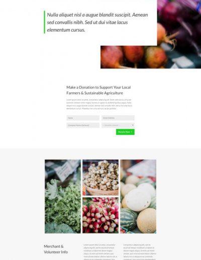 Farmers Market Donate Web Template