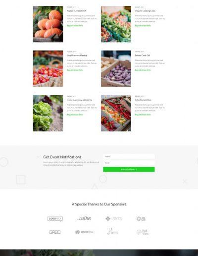 Farmers Market Events Web Template