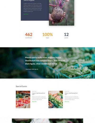 Farmers Market Landing Page Web Template