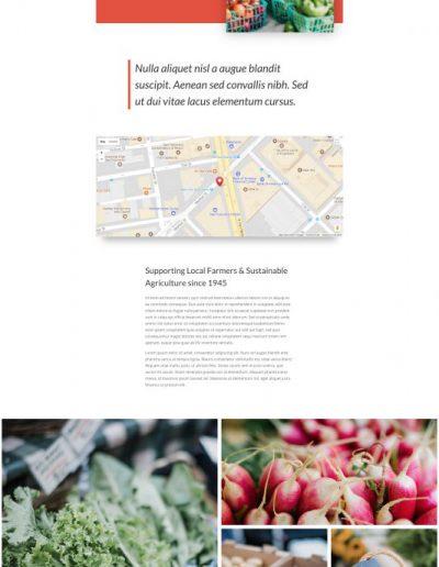 Farmers Market Market Page Web Template