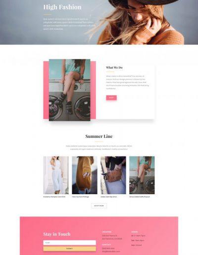 Fashion Home Web Template