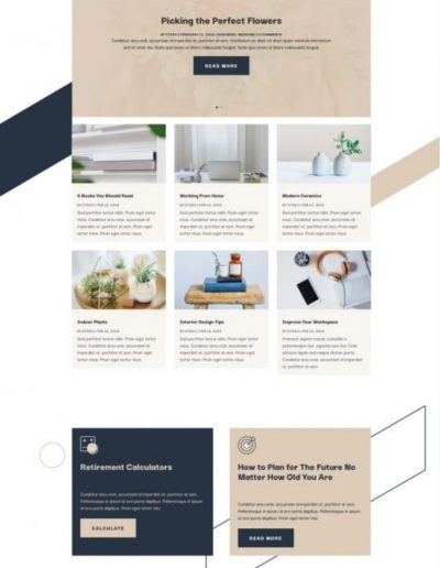 Financial Advisor Blog Web Template