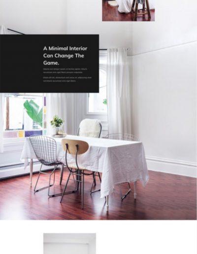 Interior Design Landing Page Web Template