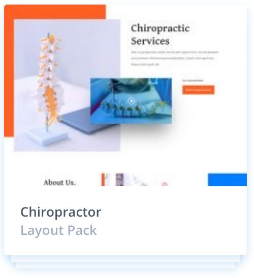 Web Design Layout Pack- Chiroprator