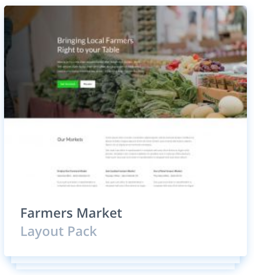 Web Design Layout Pack - for a farmers market