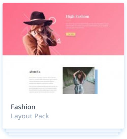 Web Design Fashion layout template