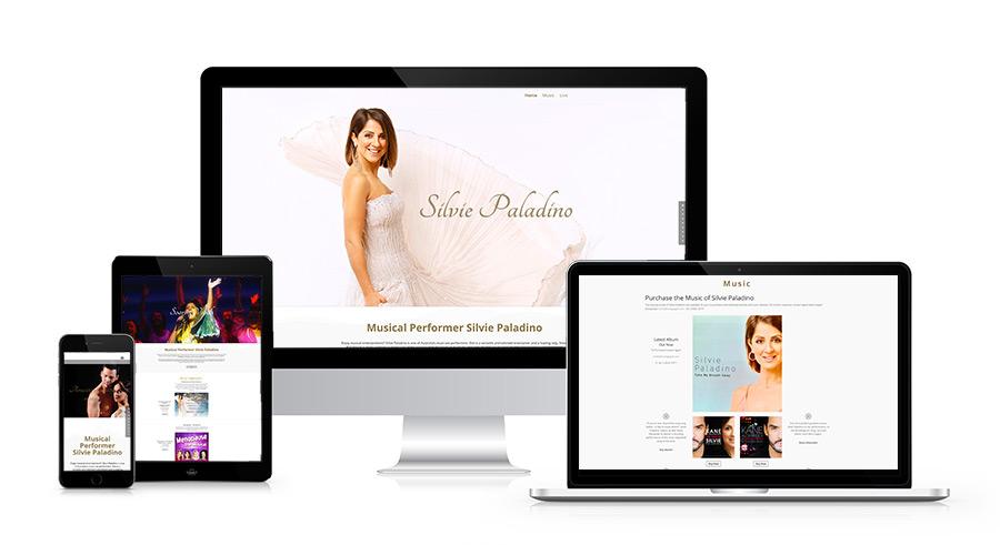 Silvie Paladino Entertainer Web Design
