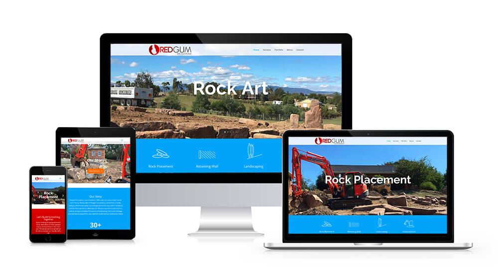 Web Design for RedGum Excavations