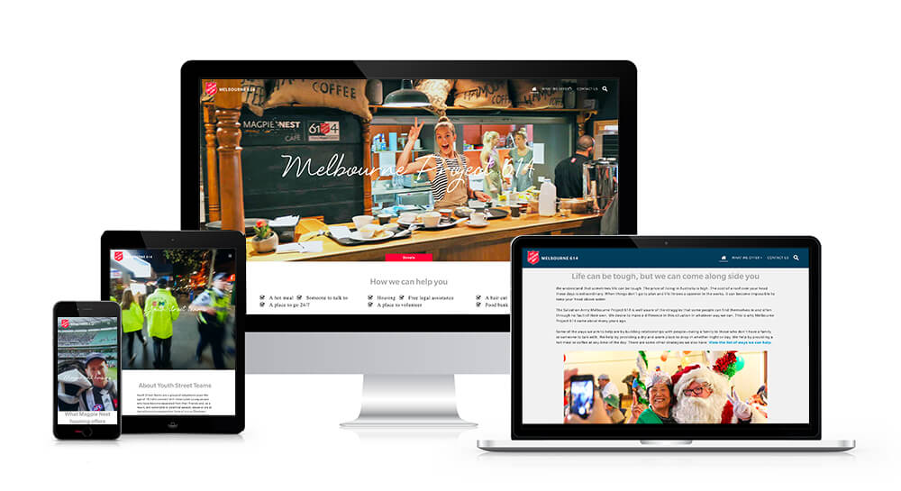 Responsive design for The Salvation Army Melbourne 614